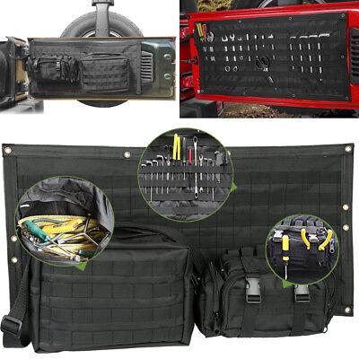 Wrangler Bag - Tailgate Cover Cargo Storage Bag Tool Kit Organizer Saddlebag For Jeep Wrangler