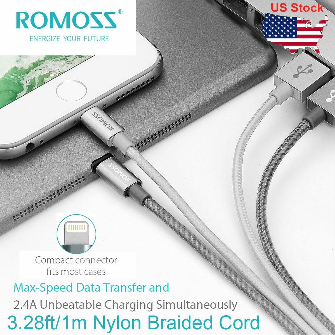 3 28ft usb nylon braided fast charging