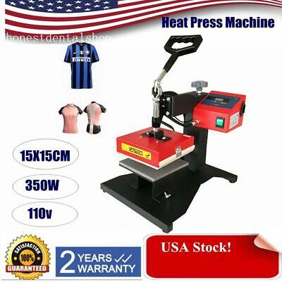 Heat Press Machine 15x15cm Digital Transfer Sublimation T-shirt Mugplate Hat
