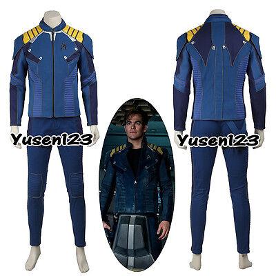 Star Trek Beyond Captain James T Kirk Uniform Cosplay Costume Coat Pants Belt