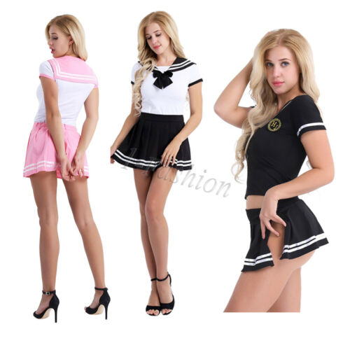 Sissy Japanese School Girl/'s Dress Outfit Uniform Costume Fancy Dress Cosplay