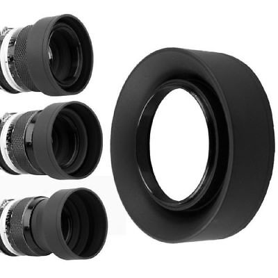 1 Collapsible Rubber Lens (1pc 3 in 1 Collapsible Rubber Foldable Hood 52mm DSIR Lens For Canon Nikon Black )