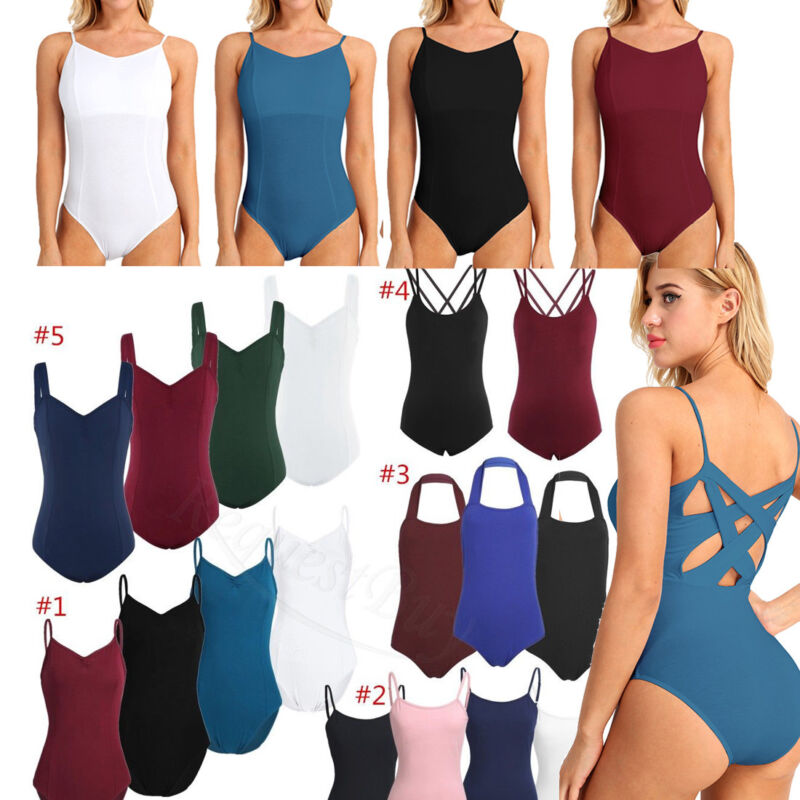 Women/'s Dancewear Ballet Dance Dress Leotard Unitard Yoga Gymnastics Bodysuit