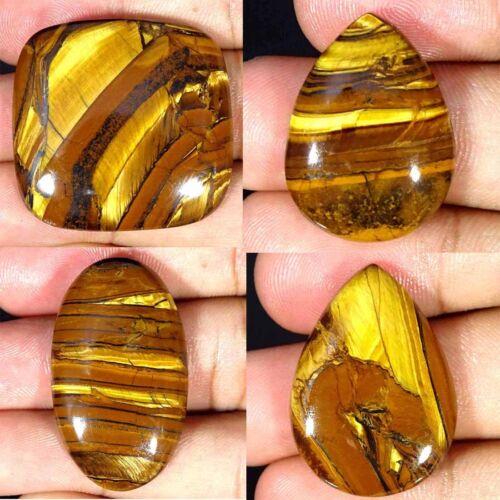 Natural Golden Tiger Eye Oval Pear Cushion Cabochon Loose Gemstone