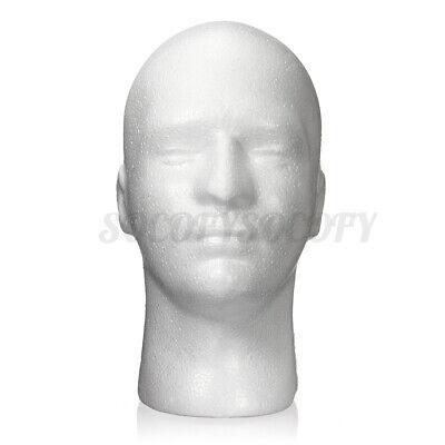11 Male Styrofoam Foam Mannequin Manikin Head Wig Display Hat Glasses Stand Us