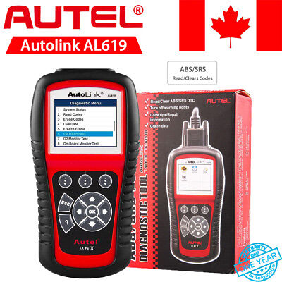 Autel Autolink AL619 Diagnostic Tool Scanner CAN OBD2 Code Reader ABS/Airbag CA