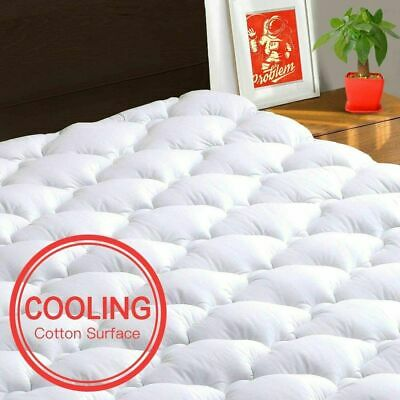 Pillow Top Mattress Topper Cover Twin Size Bed Pad Soft for Memory Foam Mattress