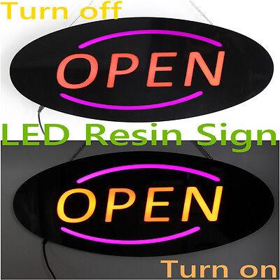 Resin Led Open Sign Led Outdoor Advertising Board Flashing Led Resin Sign Open
