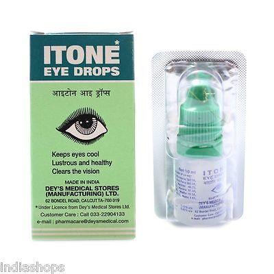 10 Pack Itone Ayurvedic Herbal Eye Drop Natural Allergies 10ml Each *Best