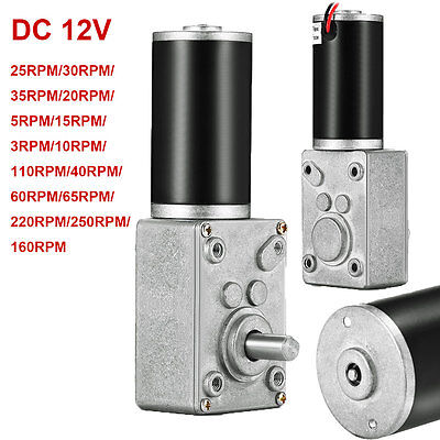 12V  DC Motor High Torque Electric Power Turbo Reducer Worm Geared Reversible