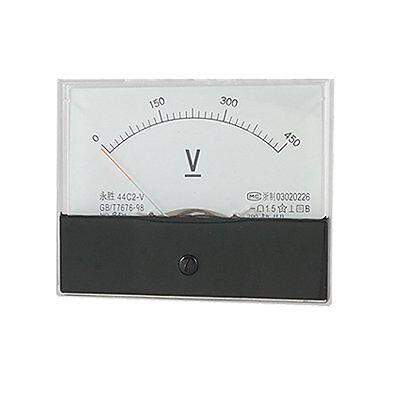1pcs New Dc 450v Analog Panel Volt Voltage Meter Voltmeter Gauge 44c2 0-450v Dc