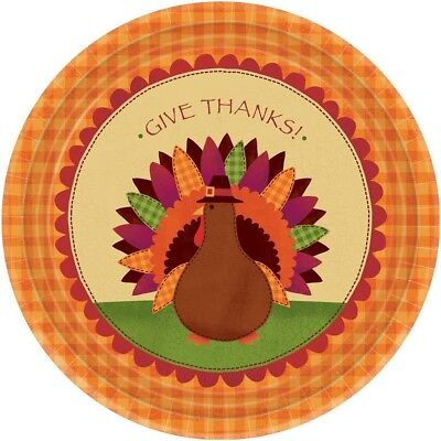 Thanksgiving Turkey Dinner Themed Party 10.5 Inch Round Paper Plates](Thanksgiving Party Themes)