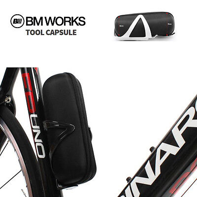 BM WORKS Tool Capsule Cycling Tool Bottle Zip Bag for Water Bottle Cage Black