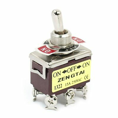 Dpdt Onoffon 3 Position 6pin Toggle Switch Ac 250v 15a