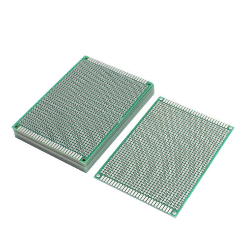 "10 PCS 3 1/8"" X 4 3/4"" DIY PROTOTYPE  BOARDS 8 X 12 CM DOUBLE SIDED FEEDTHROUGH"