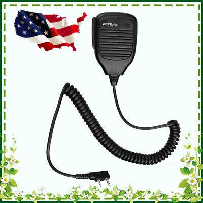 2Pin Speaker Mic for Baofeng UV5R 888S Kenwood Retevis H777 RT1 Two Way Radio US