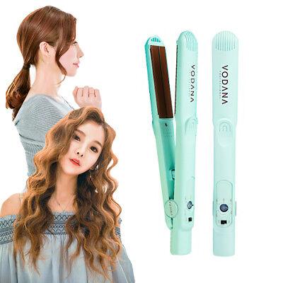 VODANA Soft Bar Flat Curling Iron Damage Hair Straightener Perm #Mintchoco