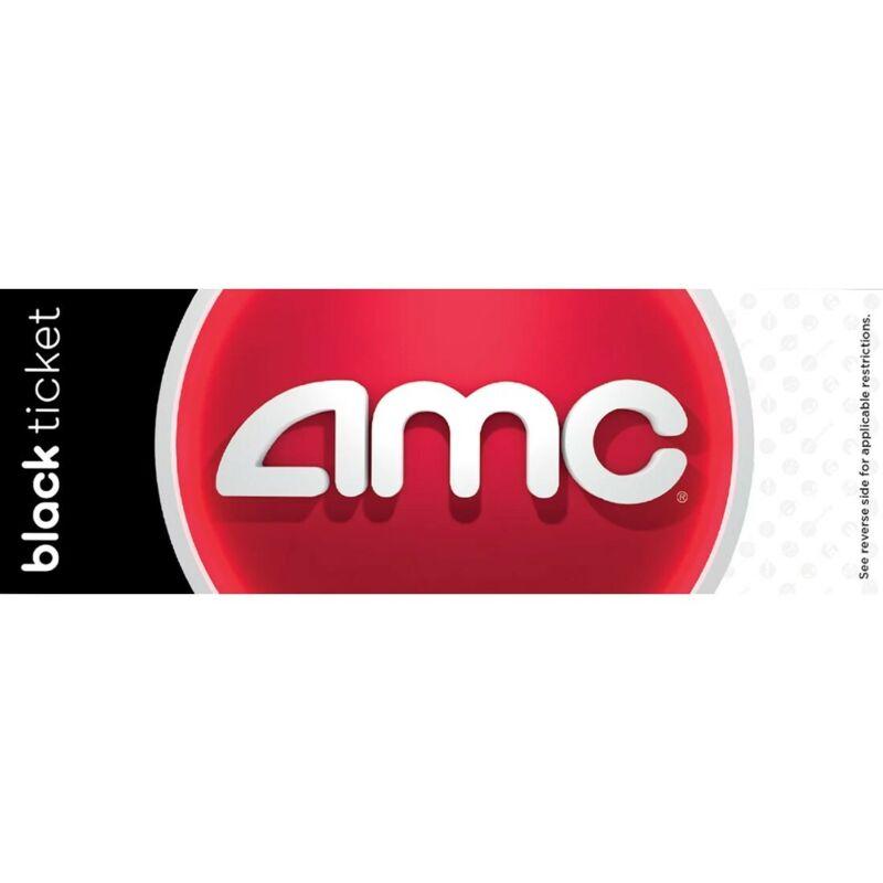 2 AMC Black Movie Ticket Vouchers - Instant Delivery