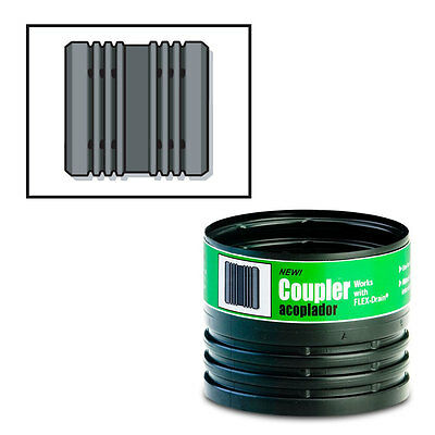 "FLEX-Drain 55020 Flexible Corrugated Coupling Drain Pipe Connector for 4"" Pipe"