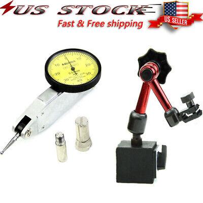 Dial Test Indicator Gauge Scale Precision Magnetic Holder Base Stand Flexib I1J2