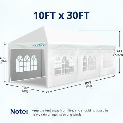 Quictent 10'x30' Party Wedding Patio Gazebo Tent Canopy Outd