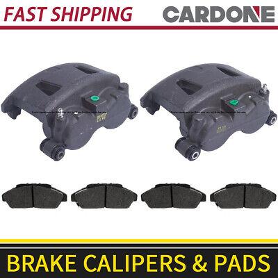 Front Brake Calipers & Metallic Brake Pads For 1999-2002 Dodge Ram 3500 Van