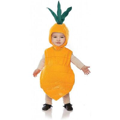 Toddler Carrot Costume (Carrot Girls Toddler Belly Baby Plush Vegetable Orange)