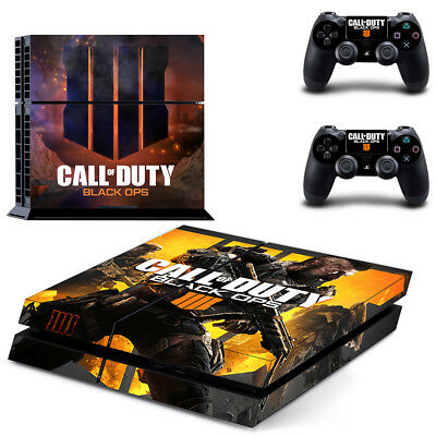 PS4 Skin Sticker Vinyl Decal for Console 2 Controllers Call of Duty Black Ops