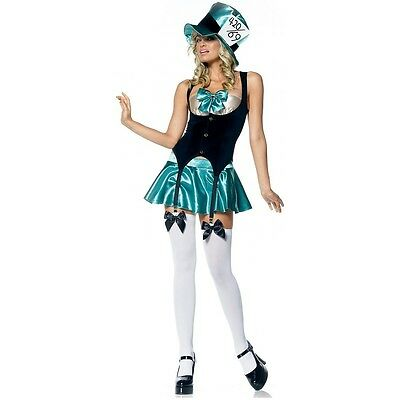 Mad Hatter Wonderland Tea Party Hostess Adult Costume (Mad Hatter Tea Party Costume)