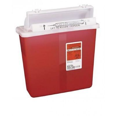 Sharps Container 5 Qt Red Sharpstar In-room Mailboxcounterbalance Lid 8507sa