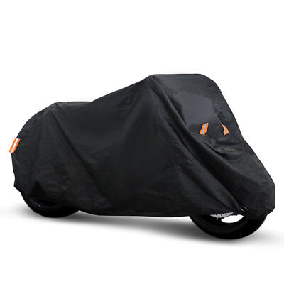 Black Motorcycle Cover XXL Durable 150D Cloth All-Weather Protection
