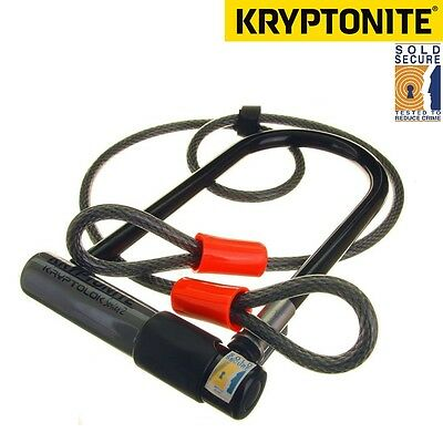 Kryptonite Series 2 Kryptolok Sold Secure Bike D / U Lock with 4ft Flex Cable