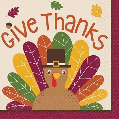 Thanksgiving Gobble Gobble Themed Party Paper Essentials Napkins & Plates Set](Thanksgiving Party Themes)