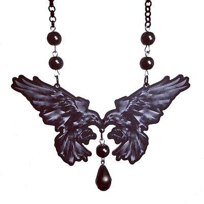 Alchemy Gothic collar-incrowtation-cuello joyas accesorio cuervos cráneo