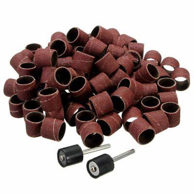 100pcsset Sandpaper Grinding Wheel Drum Sanding Kit Mandrels Dremel Nail Drill
