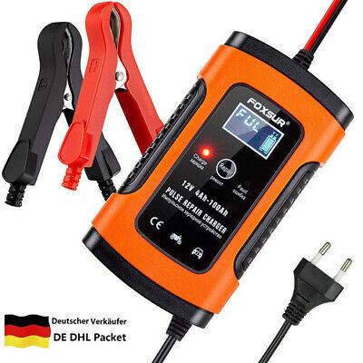 5a Batterie-ladegerät (12V 5A Vollautomatisches Batterieladegerät für KFZ PKW Auto Motorrad–EU Stecker)