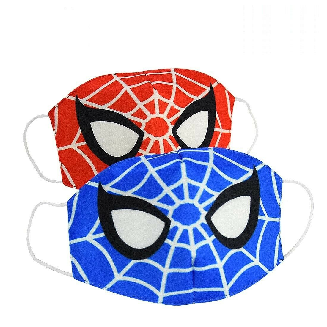 2pcs Comic Hero Spider Man Cotton Cloth Face Masks Mouth Cover for Kids or Adult Accessories