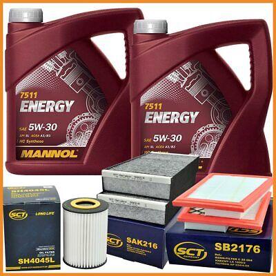 10 Liter Energy 5W30 Motoröl + 3x Filter Mercedes M Klasse W164 R W251 320CDI