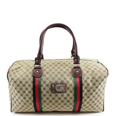 New Large Designer Inspired Holdall Gym Luggage Duffel Cabin Travel Case Bag UK for sale  Shipping to United States