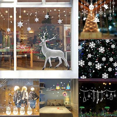 Christmas Deer Snowman Removable Wall Windows Stickers Vinyl Art Home Decor Lot - Christmas Wall