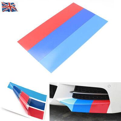 Grille Kidney Vinyl Sticker M Sport Stripe 3 Color Decal For BMW E46 E39 E60 E90