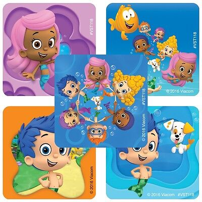 25 Bubble Guppies Stickers Party Favor Teacher Supply 1 5/8