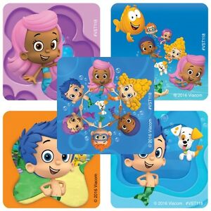 25 Bubble Guppies Stickers Party Favor Teacher Supply