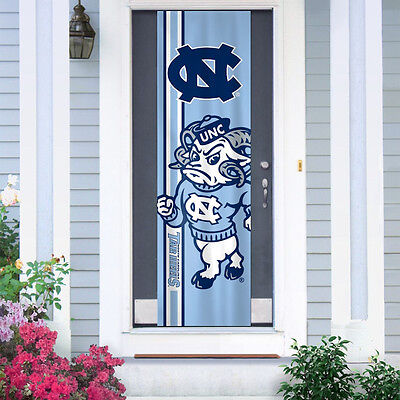 Ncaa Door Flag - North Carolina Tar Heels Door Banner 84