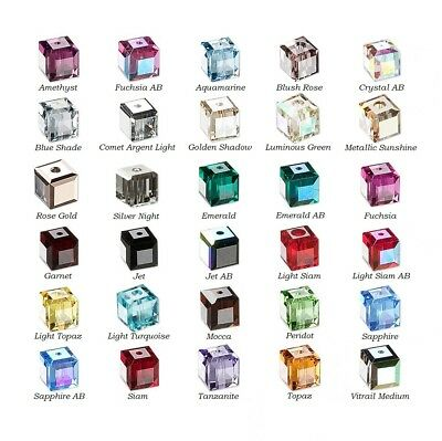 6 Swarovski® Crystal faceted cube 6x6mm Beads 5601, 6 faceted cube (Swarovski 6 Mm Cube)