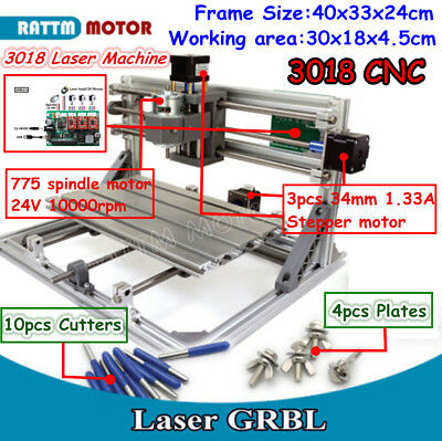3 Axis Mini 3018 Grbl Control Cnc Engraving Machine Pvc Pcb Wood Milling Router
