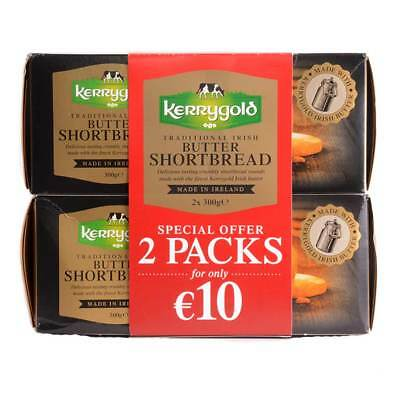 Kerrygold Shortbread Biscuits Traditional Irish Butter , 600g (300g x 2 Packs) (Irish Biscuits)
