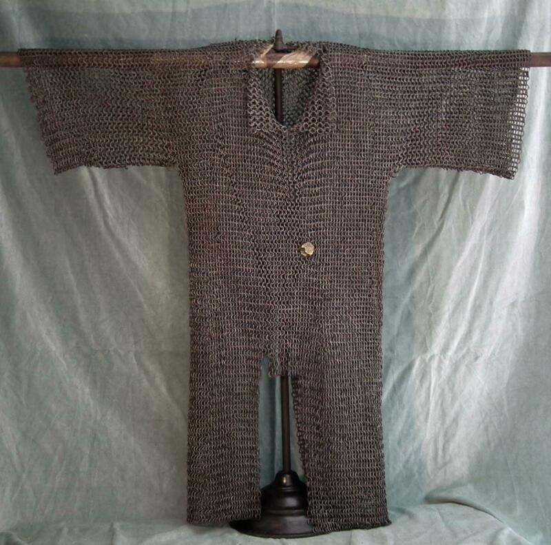 Antique Medieval  Islamic Mamluk or Turkish Ottoman Chain Mail Armour to sword