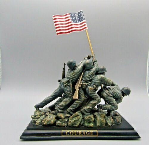 The Bradford Exchange Courage Over Fear Heroes of The USMC Statue, Iwo Jima