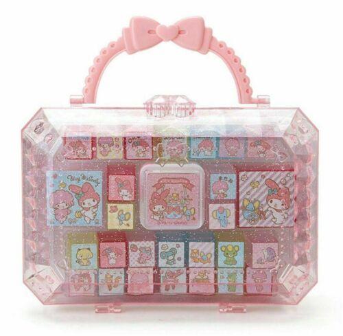 27pcs Stamp Set Friend in a Cute Case Box My Melody Sanrio Japan Kiwaii Goods